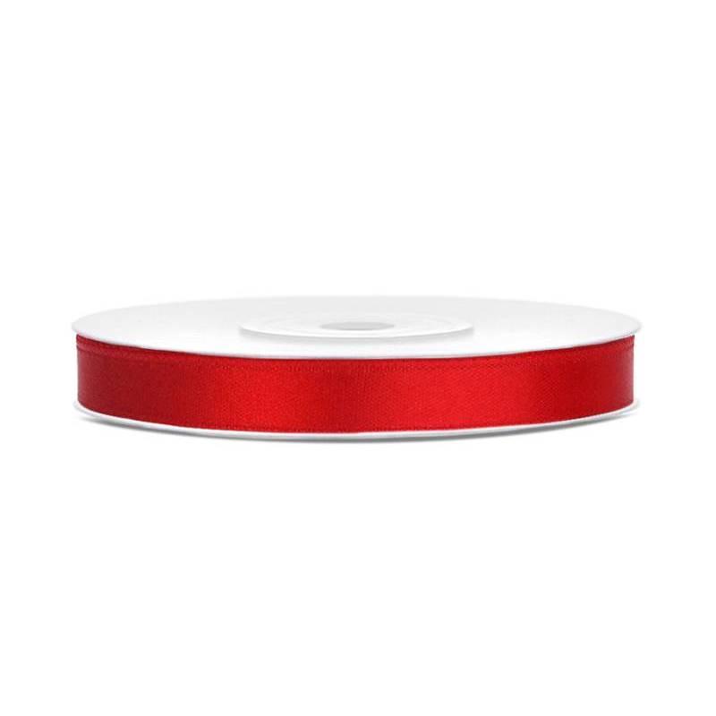 Ruban Satin rouge 6mm / 25m