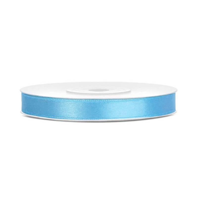 Ruban Satin bleu ciel 6mm / 25m