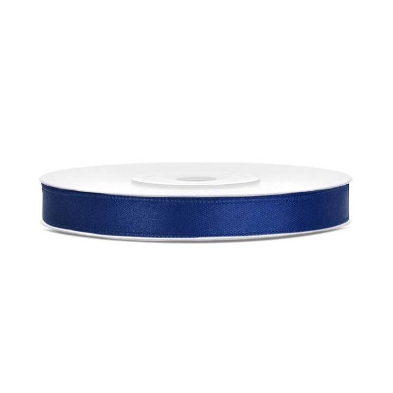 Ruban Satin bleu marine 6mm / 25m