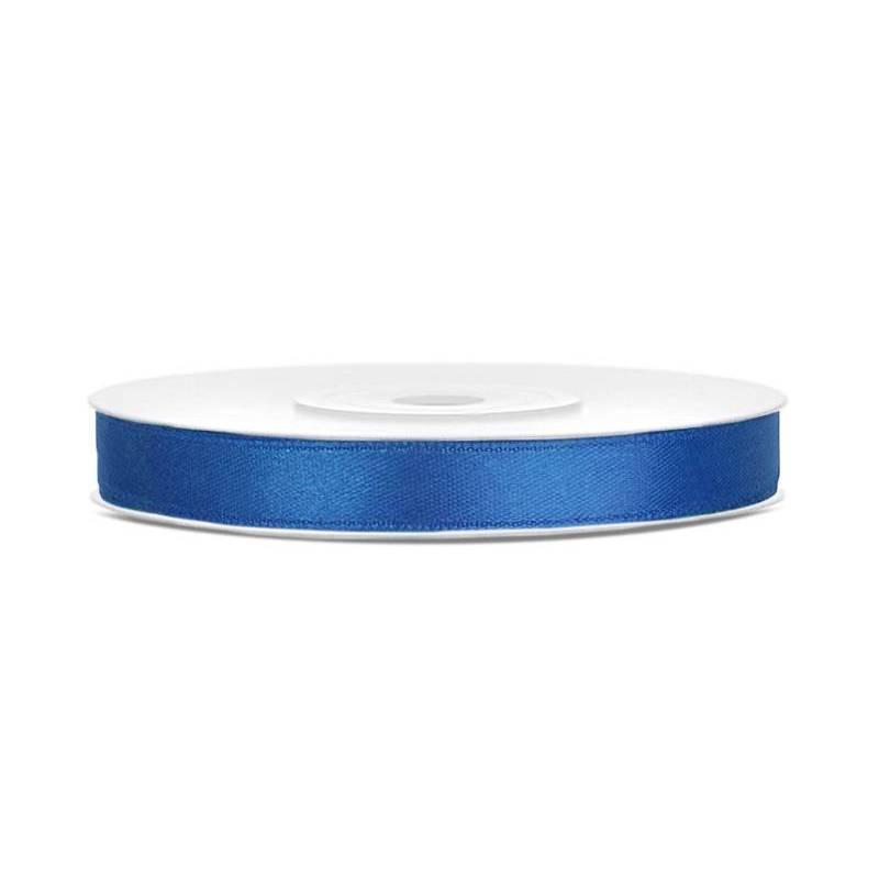 Ruban Satin bleu royal 6mm / 25m