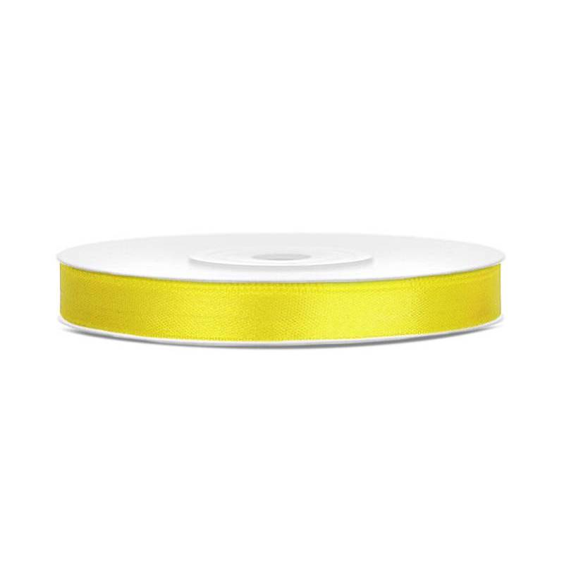 Ruban Satin jaune 6mm / 25m