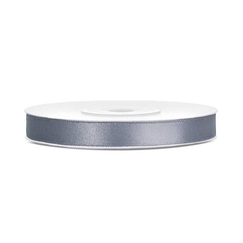 Ruban Satin gris 6mm / 25m