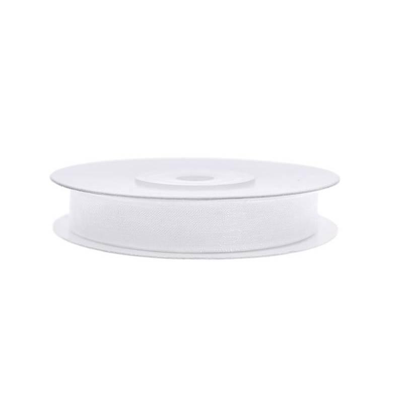Ruban en mousseline de soie blanc 6mm / 25m
