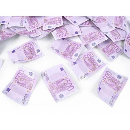 Canon à confettis avec billets de 500 euros mélange 80 cm