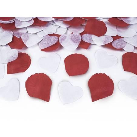 Granade aux coeurs et pétales de roses 50cm