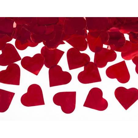 Canon à confettis avec coeurs rouge 80cm