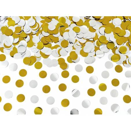 Canon à confettis avec cercles 60cm