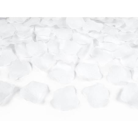 Canon à confettis avec pétales de rose blanc 80cm