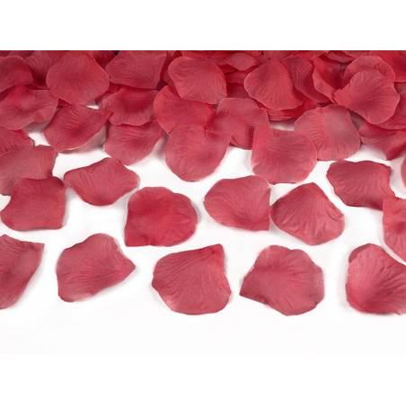 Canon à confettis avec pétales de rose rouge foncé 80 cm