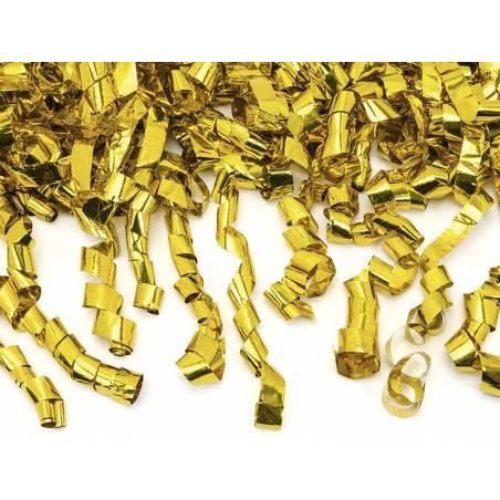 Canon à confettis avec banderoles or 40cm