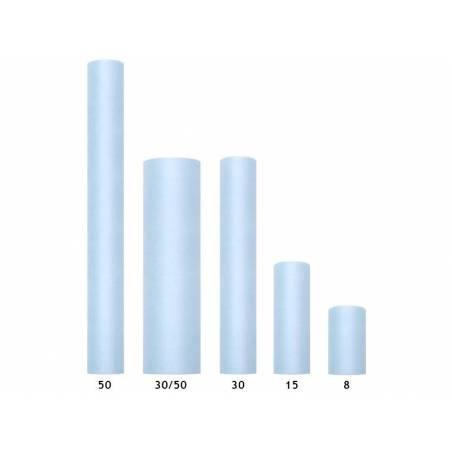 Tulle Plain Stiff bleu ciel 03 x 50m