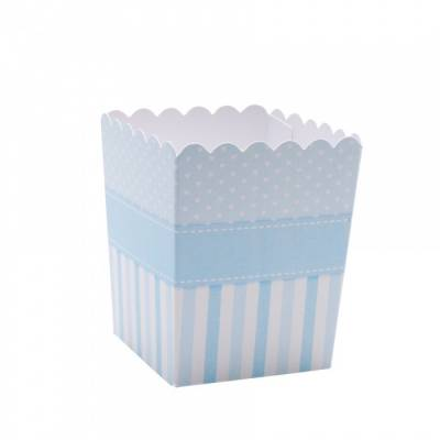 Mini pop corn bleu 5x5x7cm