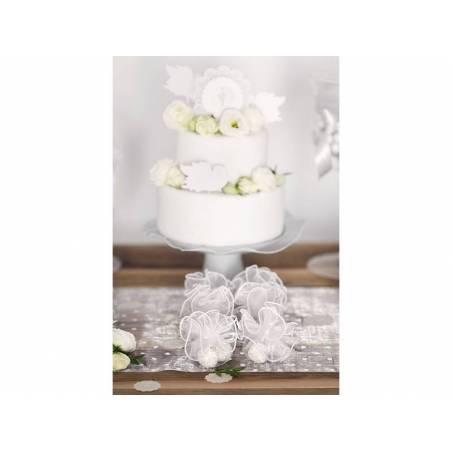 Pochettes en organza blanches 26 cm