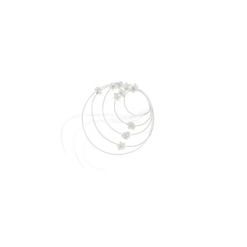 Couronnes en rotin blanches 18 cm
