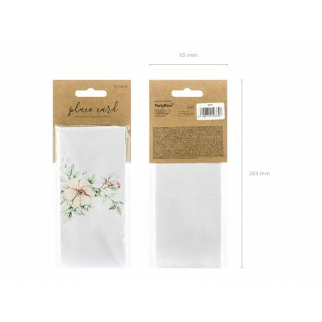 Cartes de placement - Floral 7x7.5cm