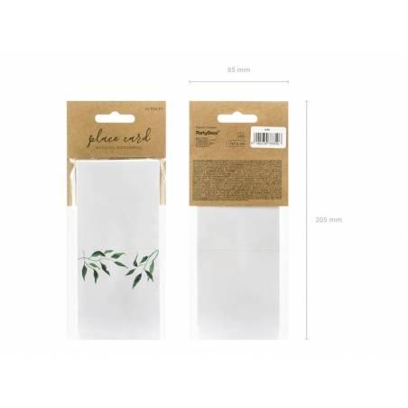 Cartes de place - Feuilles d'aquarelle 7x7.5cm