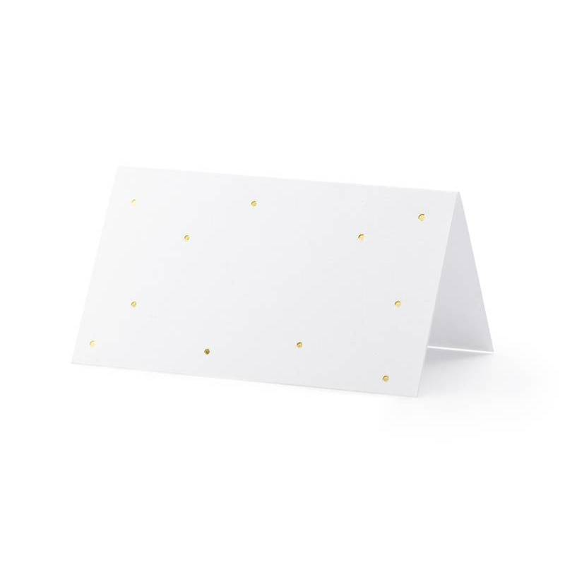 Cartes de placement - Points or 9.5x5.5cm