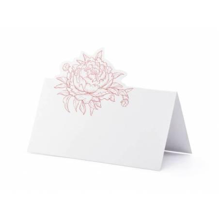 Placer des cartes pivoines blanches 9x45 cm