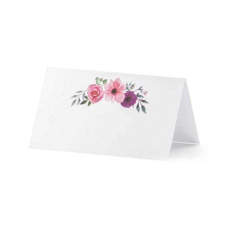 Cartes de placement - Floral 95x55cm