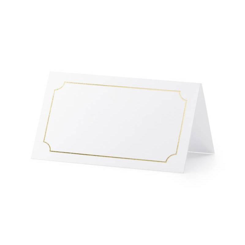 Cartes de placement - Cadre or 9.5x5.5cm