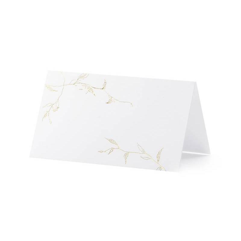 Cartes de placement - Branches or 9.5x5.5cm