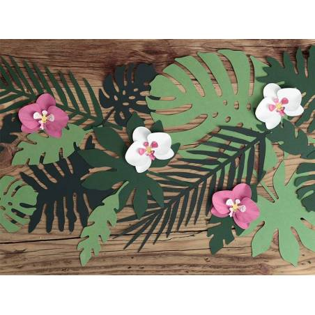 Décorations Aloha - Feuilles tropicales mélanger