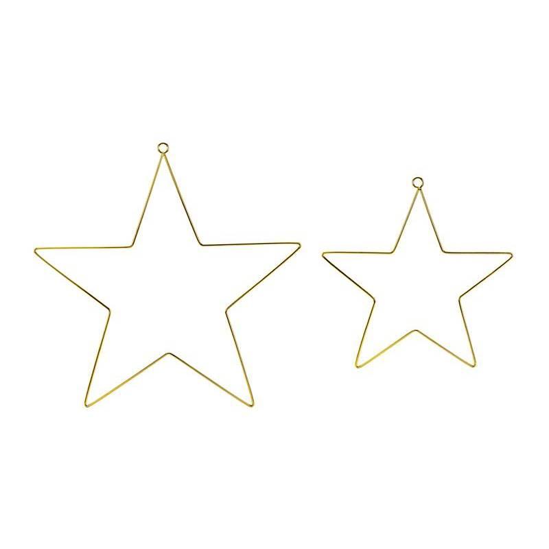 Décorations à suspendre en métal Étoiles mélanger