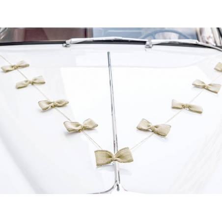 Kit de décoration de voiture - Arcs jute