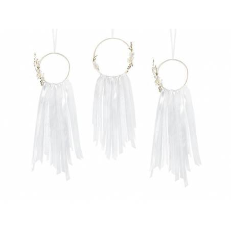 Kit de décoration - Capteurs de rêves blanc