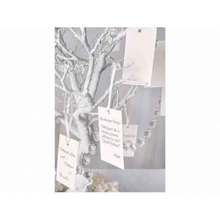 Carte pour arbre à souhaits blanche 45 x 87 cm