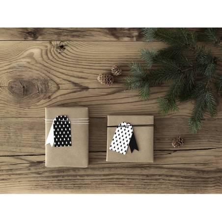 Etiquettes cadeaux arbres de Noël