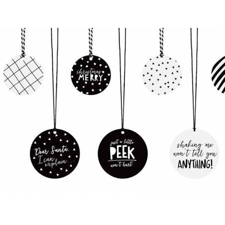Etiquettes cadeaux mix