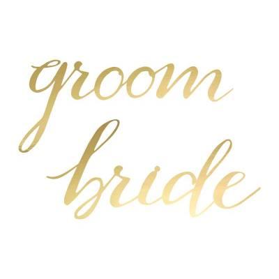 Signes de chaise Bride Groom or