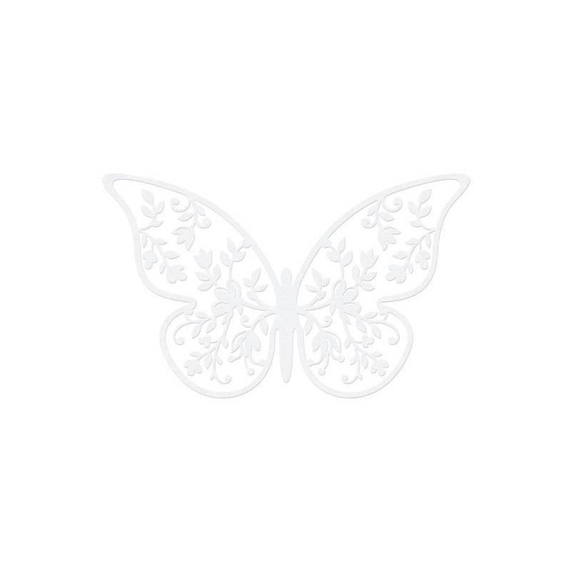 Décorations en papier Papillon 8 x 5 cm