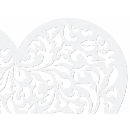 Décorations en papier coeur 135 x 115 cm