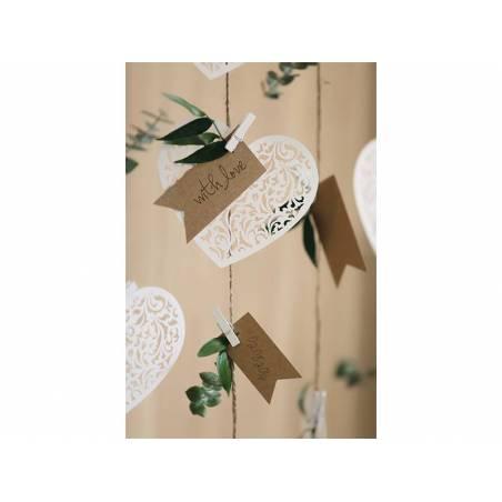 Décorations en papier coeur 12 x 10cm