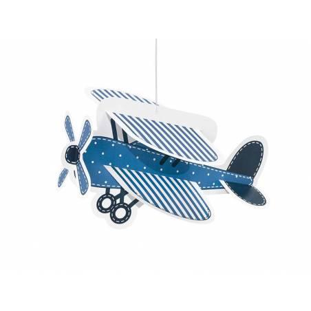 Décor suspendu nuages et petit avion mélanger