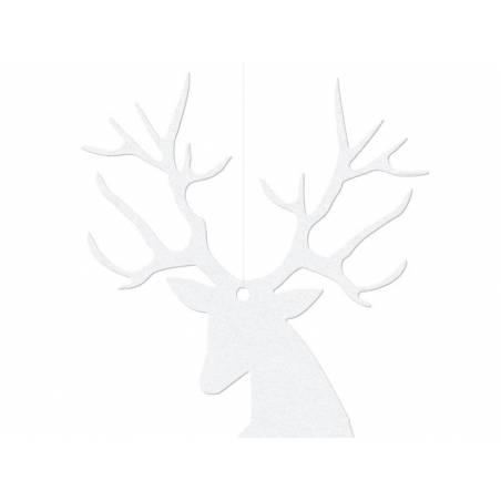 Décoration à suspendre Rudolf blanc 94 x 145 cm