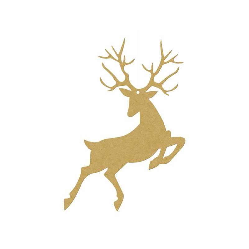 Décoration à suspendre Rudolf or 94 x 145 cm