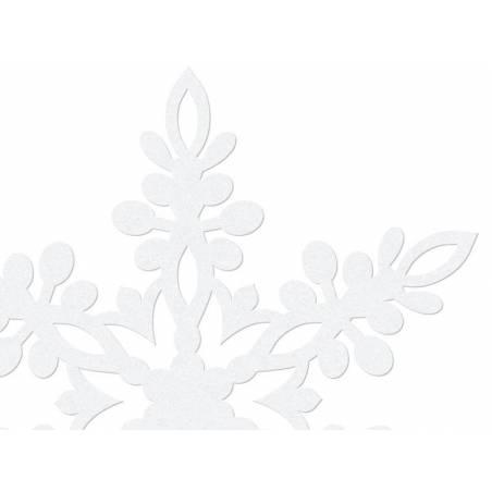 Décoration en papier Flocon de neige blanc 13cm blanc