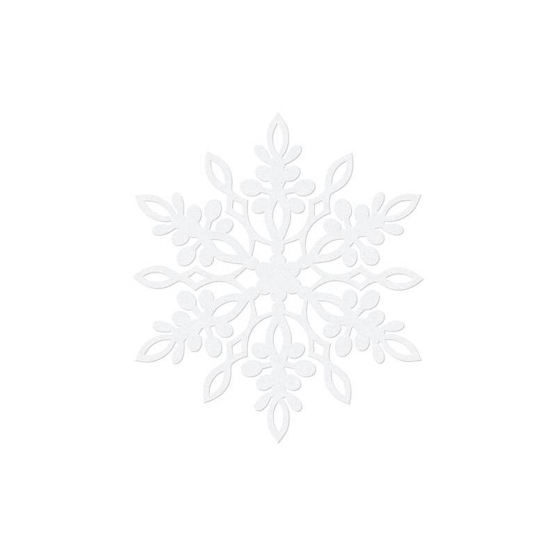 Décoration en papier Flocon de neige blanc 11 cm blanc