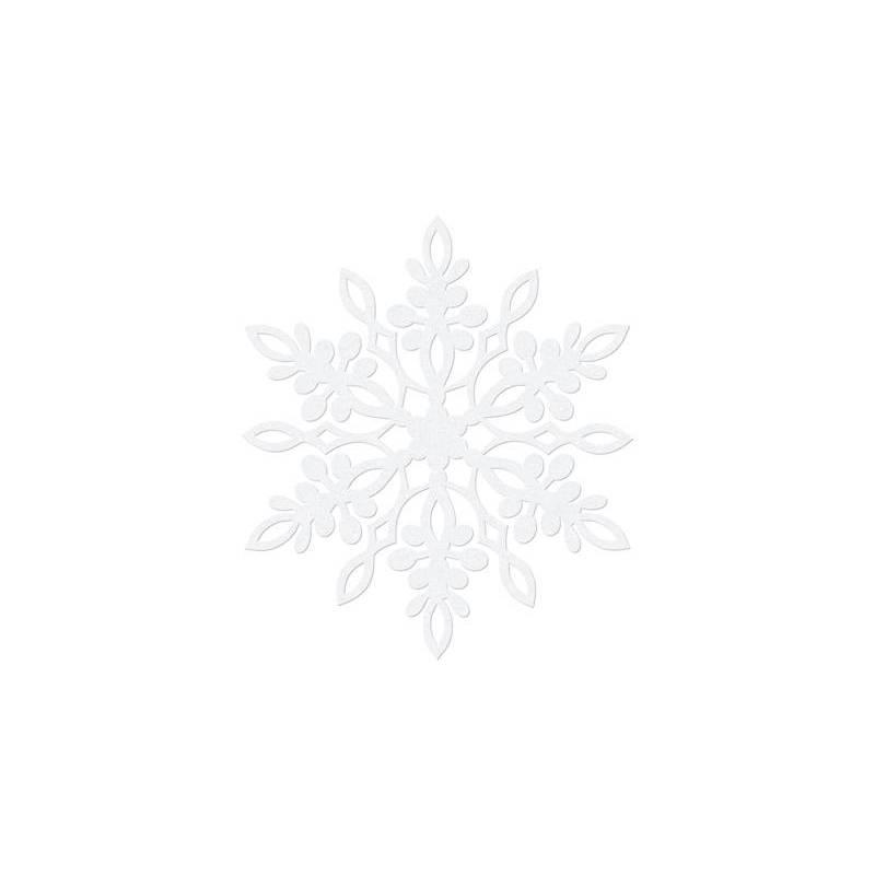 Décoration en papier Flocon de neige blanc 9 cm blanc