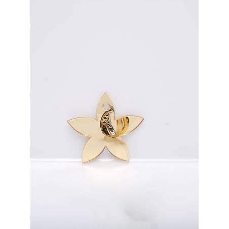 8 nominettes fleur argent/or 4,8x4,6cm