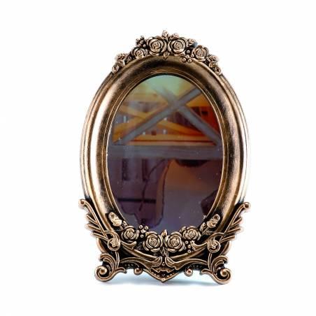 Cadre baroque or miroir 16x2h24cm