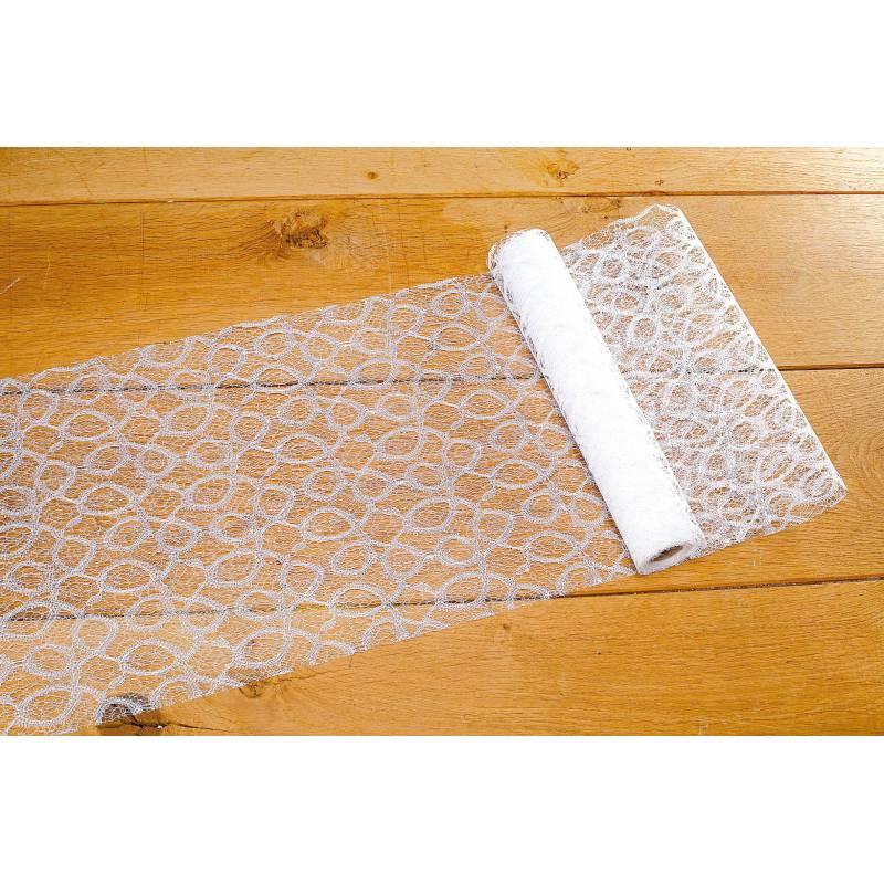 Chemin de table dentelle blanc 30cmx5mt