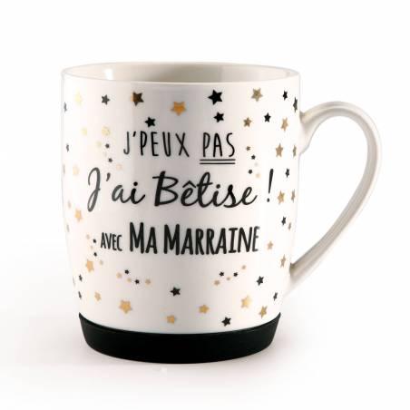 """MUG """"J'ai Bêtise Marraine"""" D8,5H10CM"""