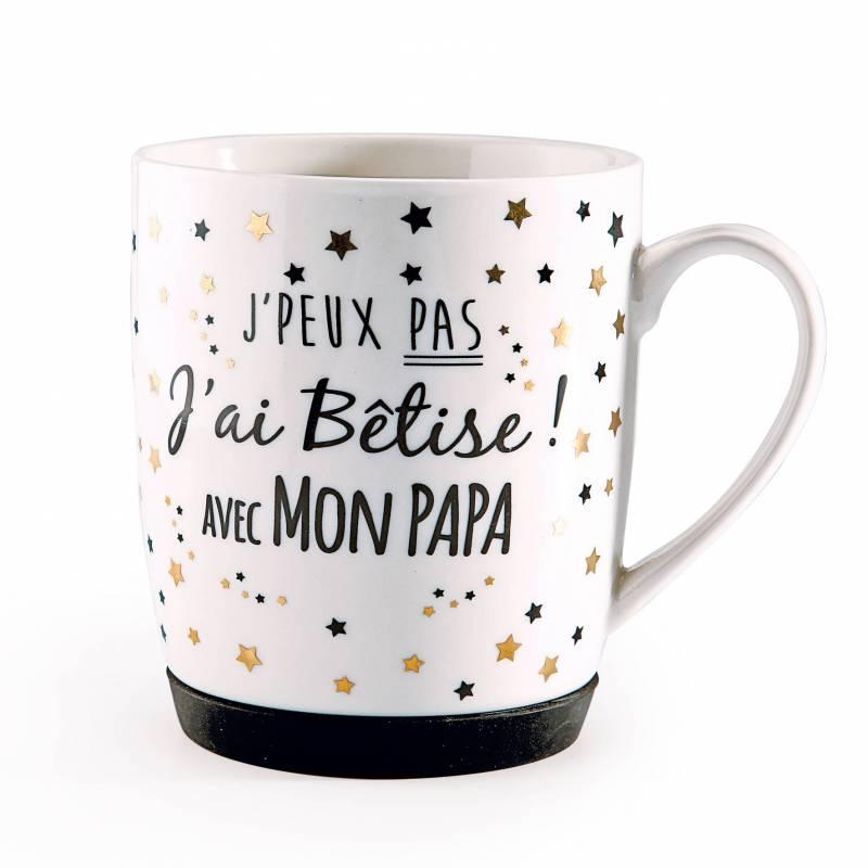 """MUG """"J'ai Bêtise Papa"""" D8,5H10CM"""