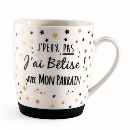 "MUG ""J'ai Bêtise Parrain"" D8,5H10CM"