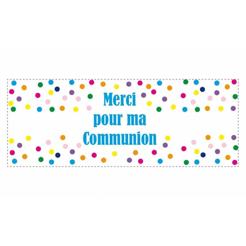 "STICKERS ""Merci pour ma communion"" 20PCS PN 10X3,8CM"