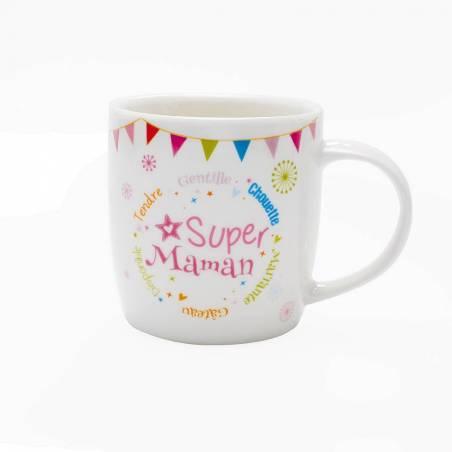 Mug galaxy super maman d8,5h9cm